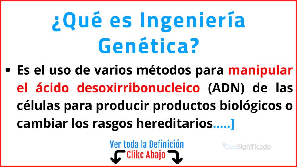 que es ingeniería genética