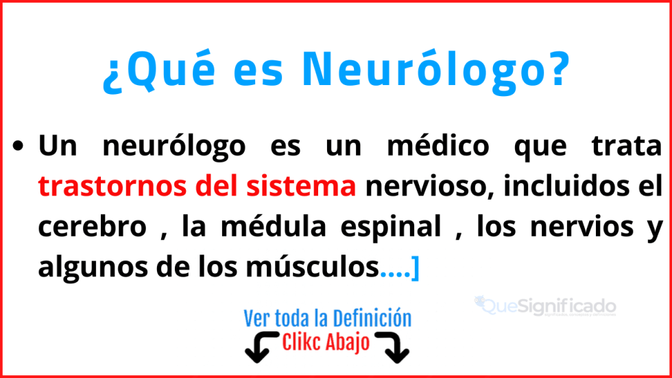 que es neurólogo