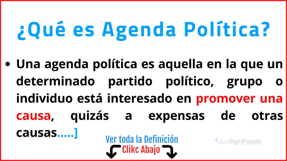 Qué es Agenda Política