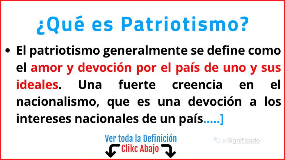 Qué es Patriotismo