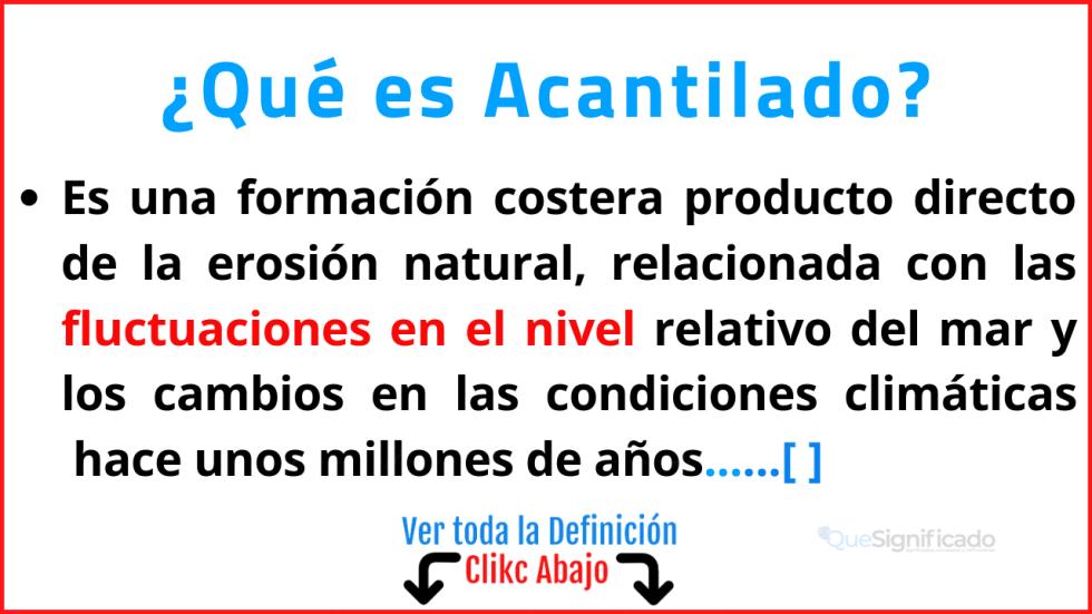 Qué es Acantilado