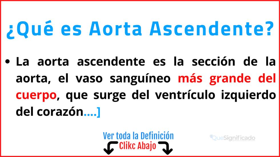 Qué es Aorta Ascendente