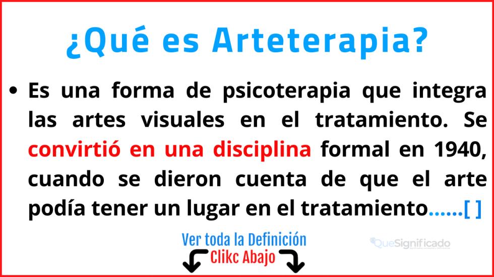 Qué es Arteterapia