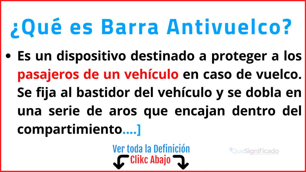 Qué es Barra Antivuelco