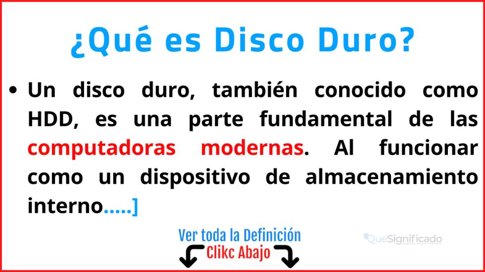 Qué es Disco Duro