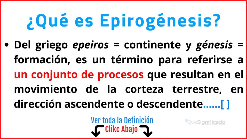 Qué es Epirogénesis