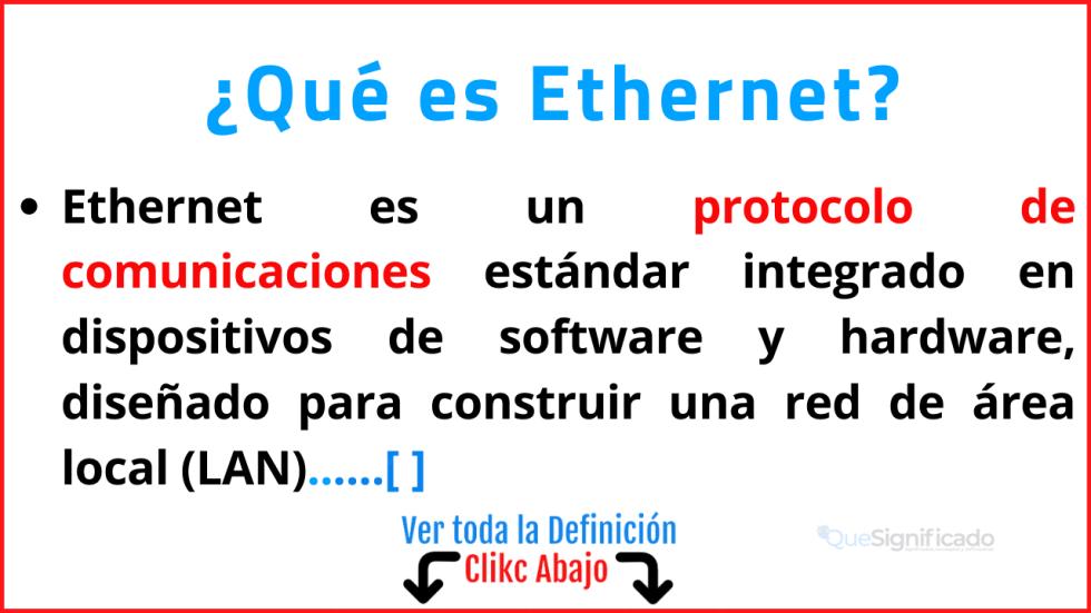 Qué es Ethernet
