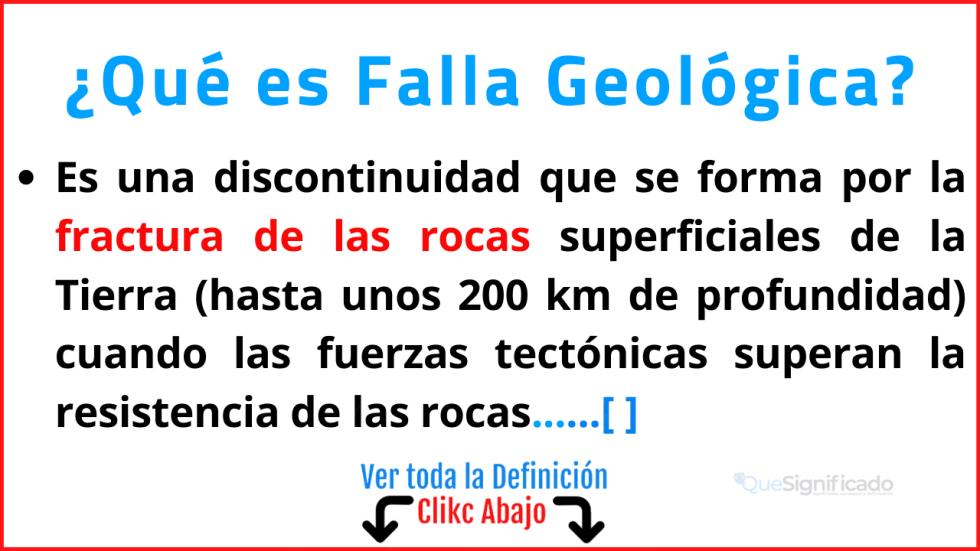 Qué es Falla Geológica