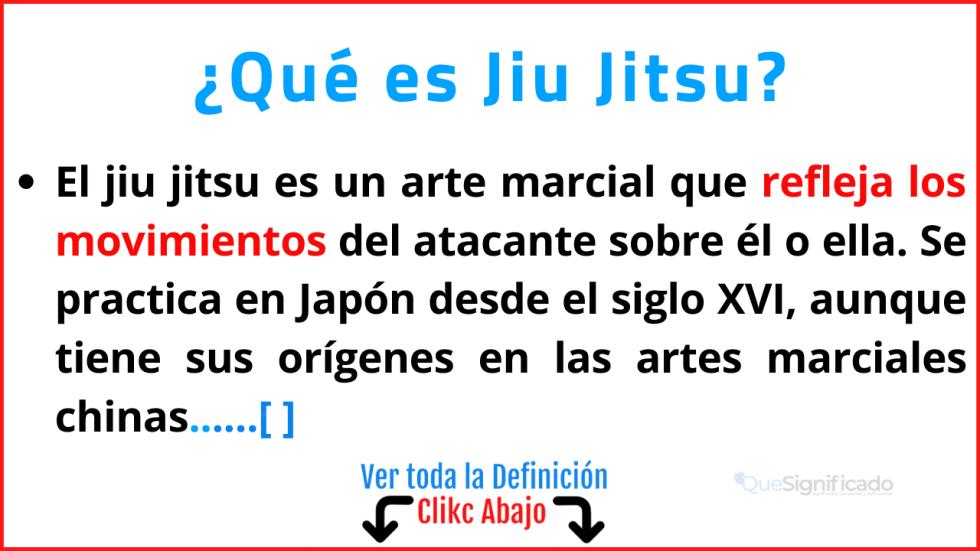 Qué es Jiu Jitsu