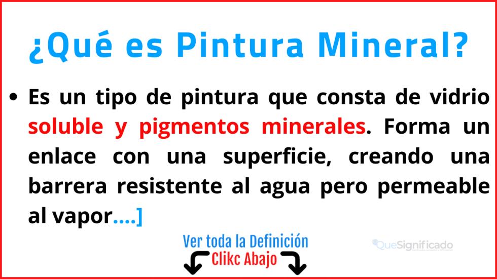 Qué es Pintura Mineral