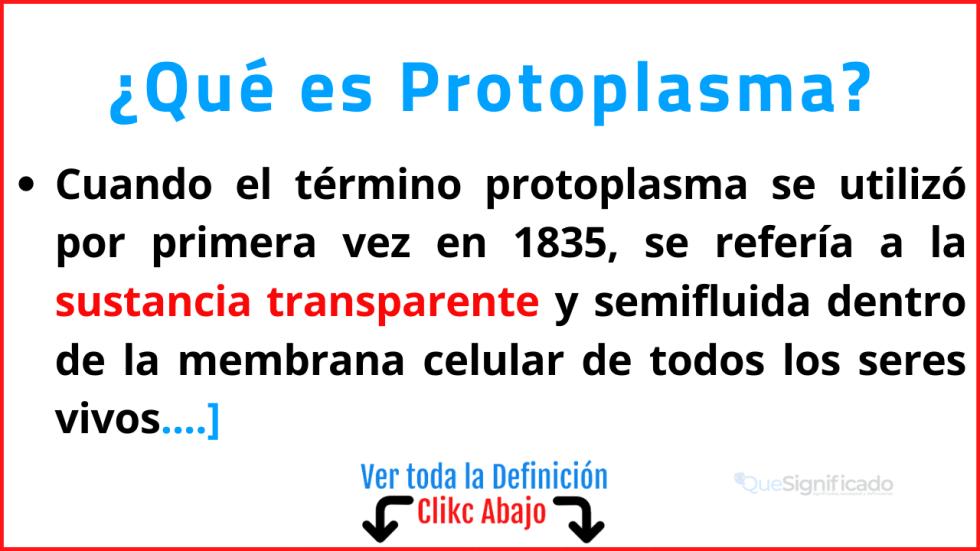 Qué es Protoplasma