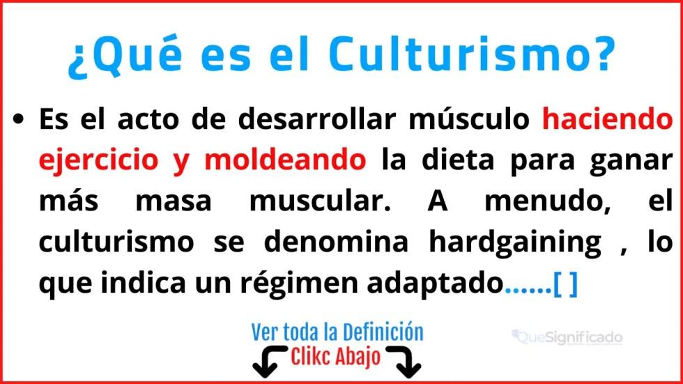 Qué es el Culturismo