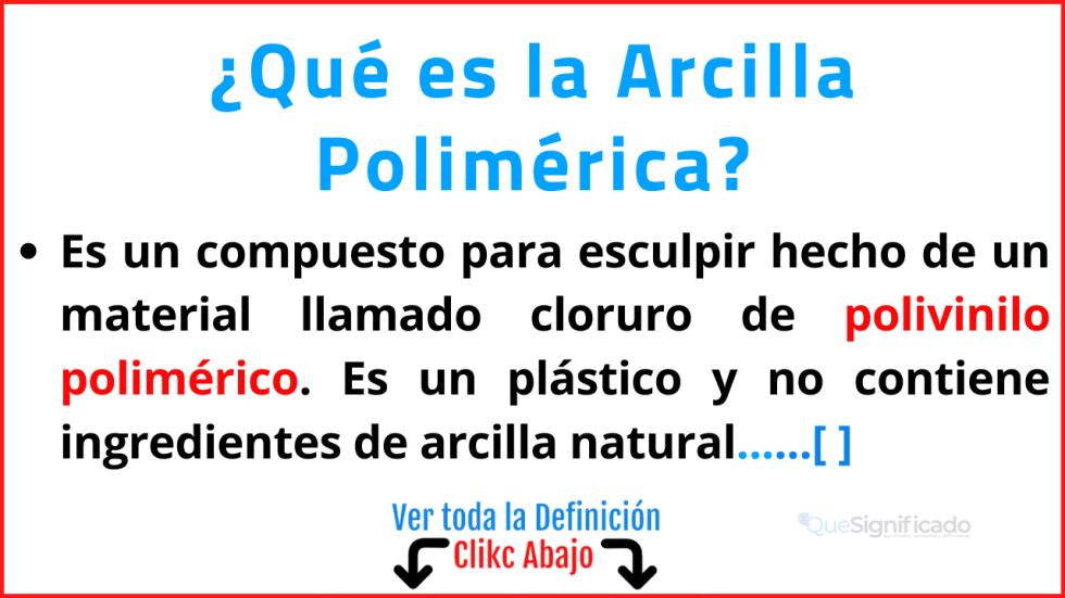 Qué es la Arcilla Polimérica