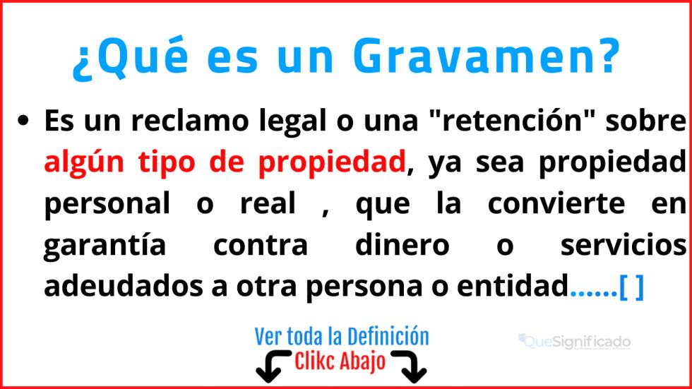 Qué es un Gravamen