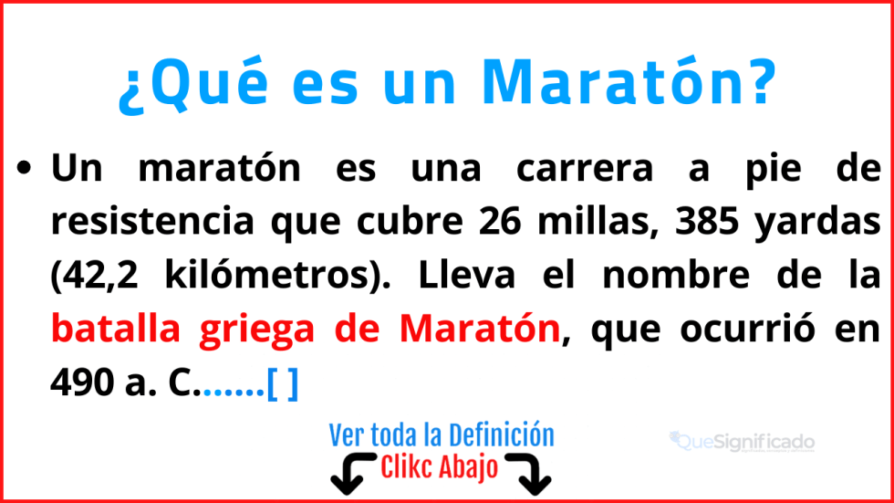 Qué es un Maratón