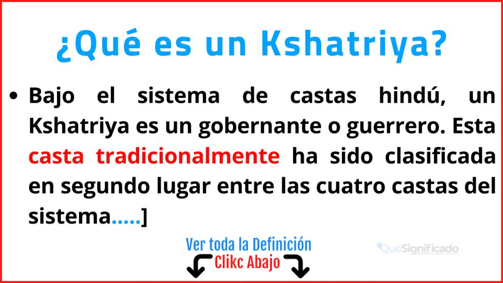 que es Kshatriya