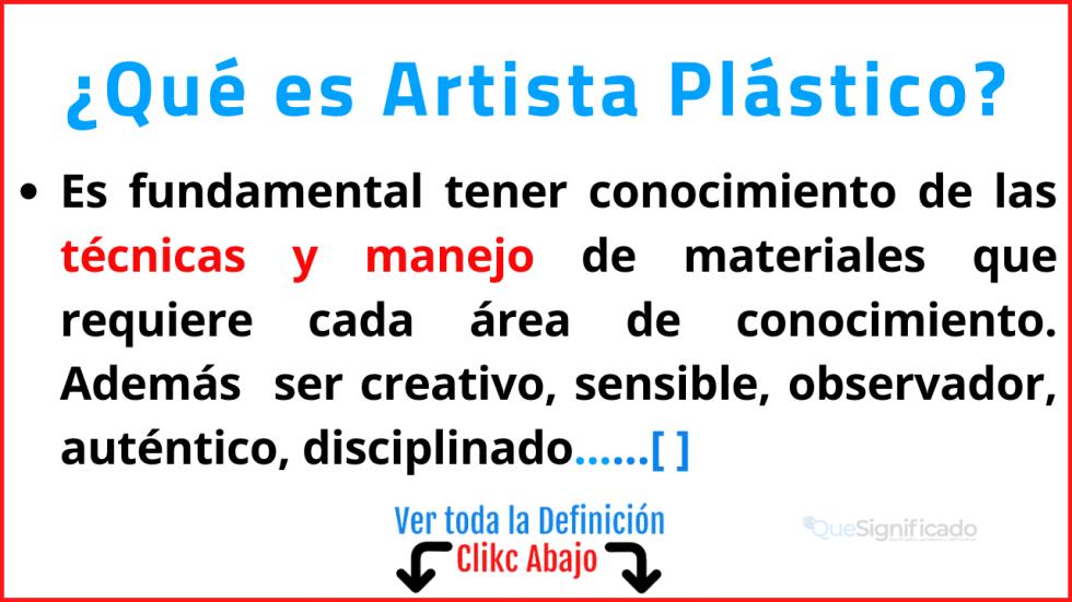 Qué es Artista Plástico