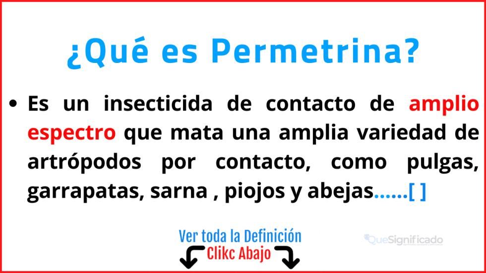 Qué es Permetrina