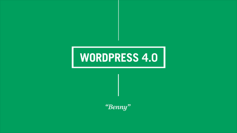 WordPress 4.0 Benny
