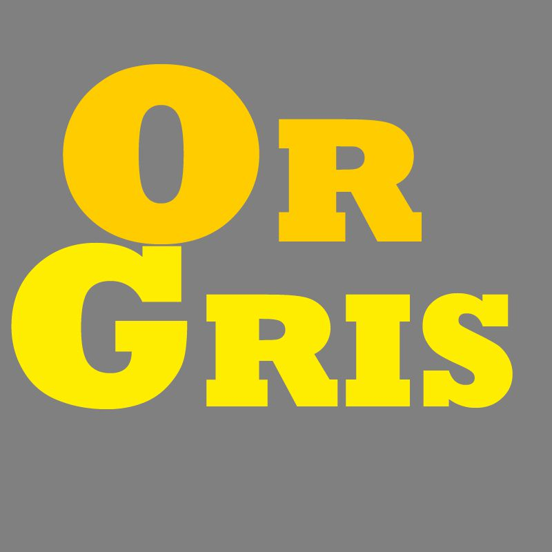 le logo d'or gris