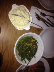 Garlic Mashed Potatoes and Green Beans Almondine