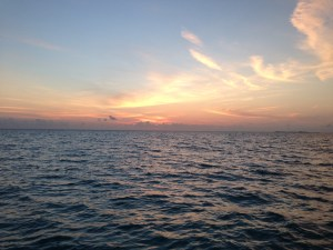 Sunset at Hawksbill Cay