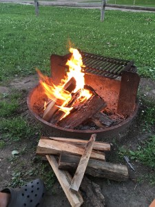 Campfire in Blackhawk Park