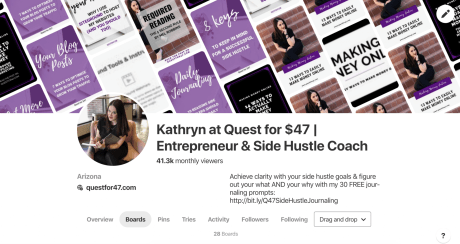Pinterest Success: 16 Things You Need To Get Massive Traffic From Pinterest Business Account Screenshot