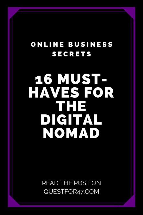 16 Must-Haves For The Digital Nomad on Quest for $47 Pinterest