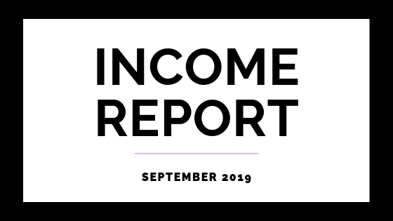 September 2019 Income Report