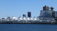 Closer view of Canada Place from the Seawall