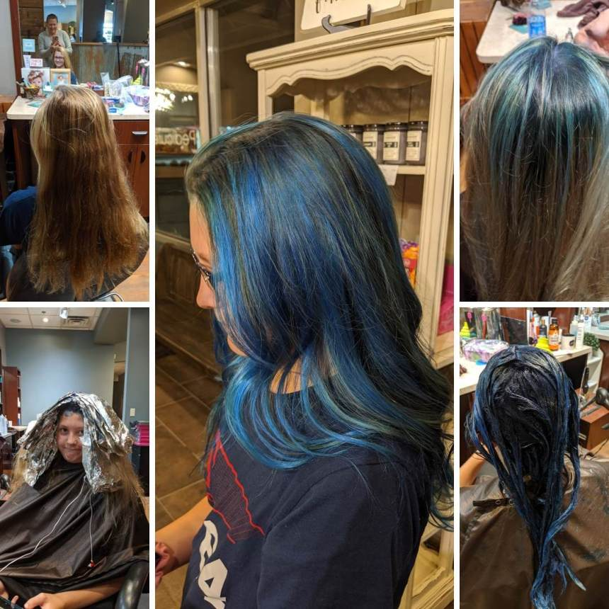 What a process! 3 hours at the salon to get to the final product. But she is happy she did. I am glad that I chose the right battle. Choosing your battles with your child