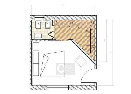 Come realizzare una cabina armadio questioni di arredamento - Camera da letto con cabina armadio e bagno ...