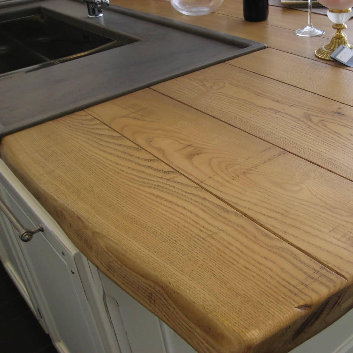piano-lavoro-cucina-in-legno-001 - Questioni di Arredamento