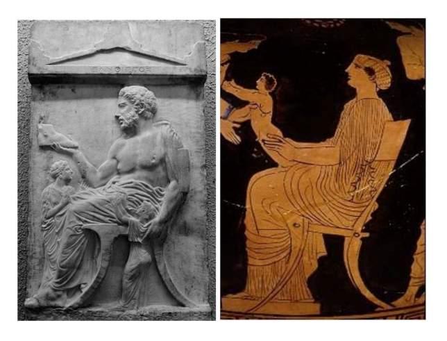 Klismos greco