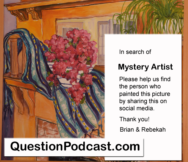 Who painted this picture of a fireplace that inspired our story?
