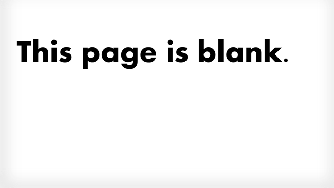 This page is blank. Where do the ideas come from when you're looking at a blank page?