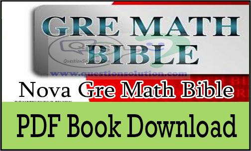 Nova Gre Math Bible Pdf