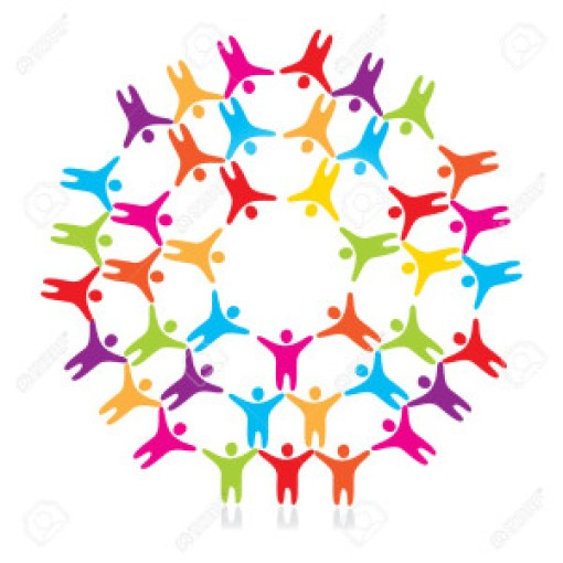 8977496-sign-a-friendship-of-the-peoples-Stock-Vector-people-circle-art