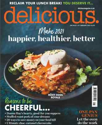 Delicious Magazine January 2021 Cover