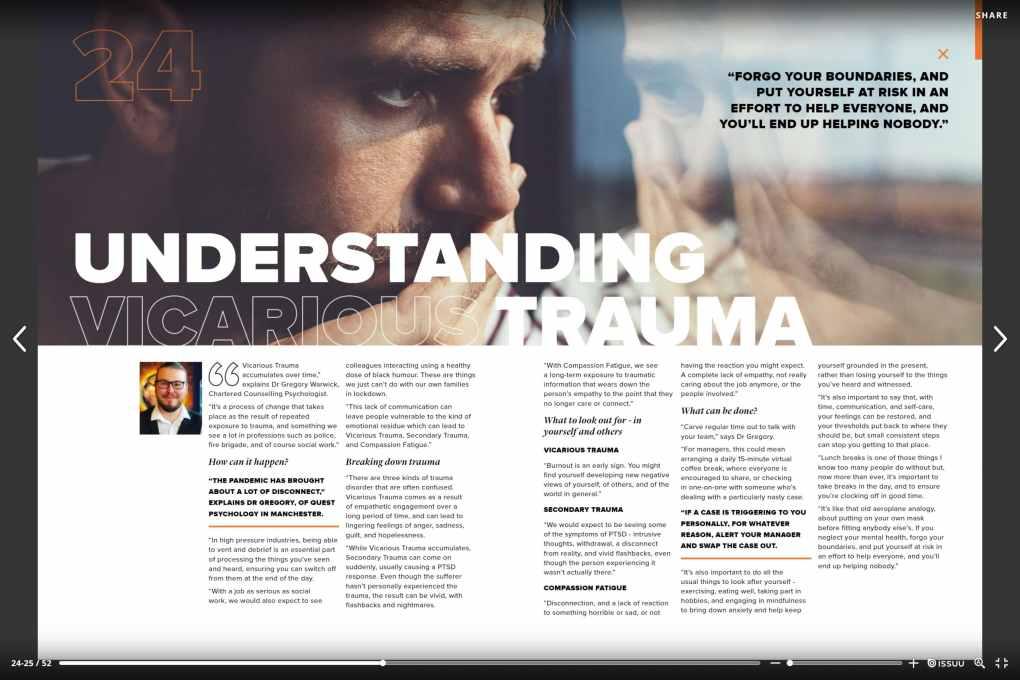 Understanding Vicarious Trauma