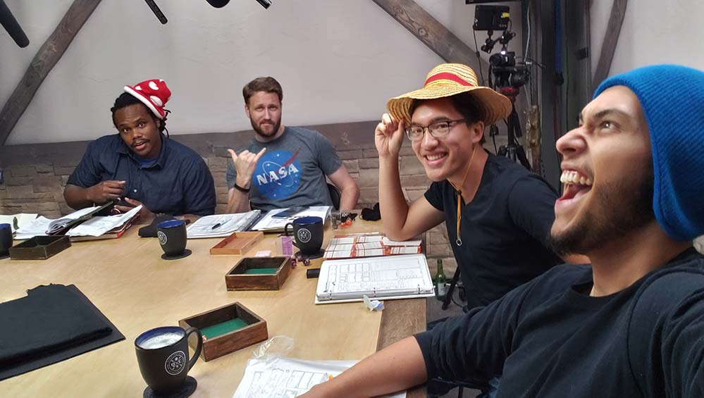 Warren, Beau, James, and Aaron get ready for Chaos Agents
