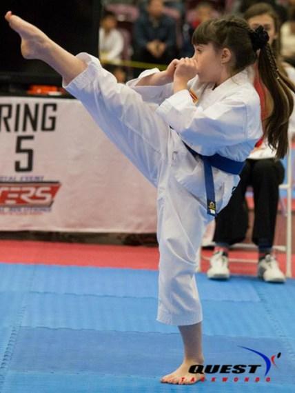 little girl kick
