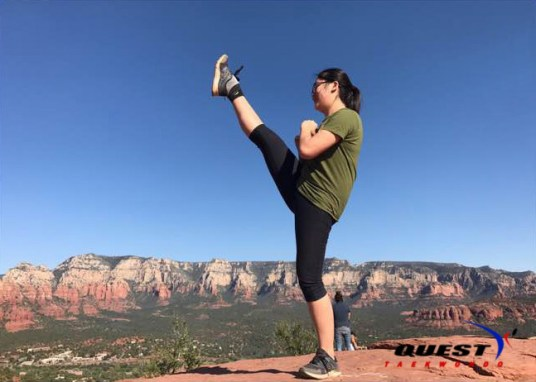 Lauren Hwang at Sedona Summit Trail