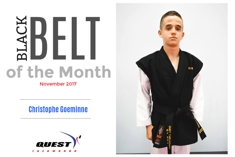 Black Belt of the Month: Christophe Goeminne