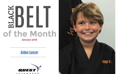 Black Belt of the Month: Aiden Lunzer