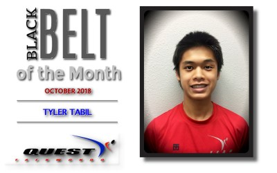 Black Belt of the Month: Tyler Tabil