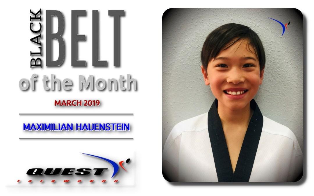 Black Belt of the Month: Maximilian Hauenstein