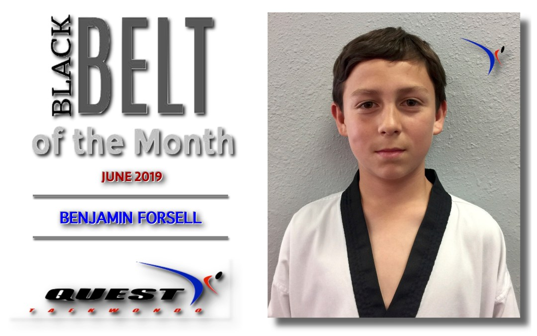 Black Belt of the Month: Benjamin Forsell