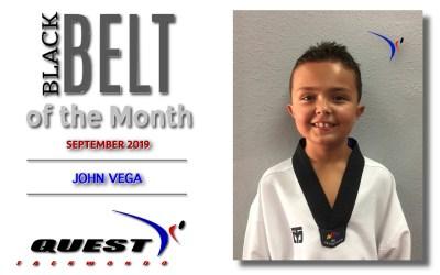 Black Belt of the Month: John Vega